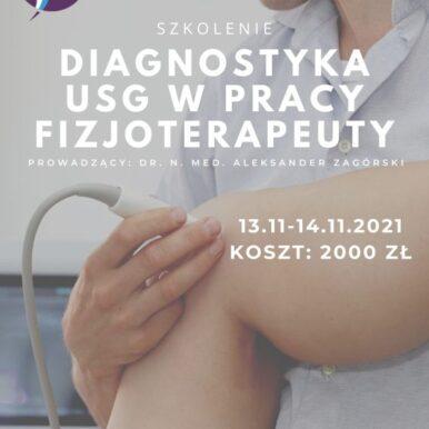 DIAGNOSTYKA USG W PRACY FIZJOTERAPEUTY – KOŃCZYNA górna